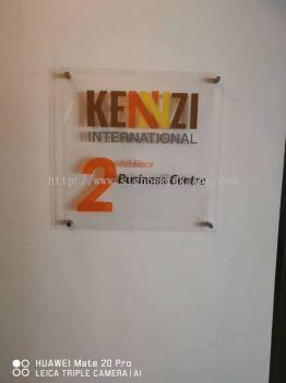 Kennzi Acrylic cut out 3D lettering acrylic poster frame sigange at kota damansata Kuala Lumpur