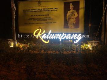 3D LED Conceal box up frontlit Signage at  Kalumpang