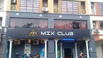 Mix Club 3D LED Box Up RGB Color lettering at Subang jaya SS 2 kuala Lumpur