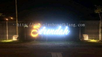 3D LED Channel Box up fronlit Lettering Road Signage at Serendah