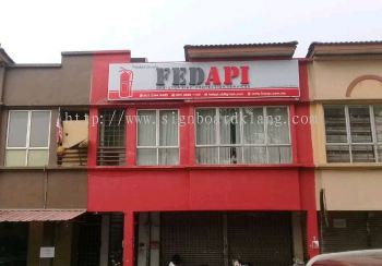 Fed Api 3D LED channel box up lettering signage at meru klang