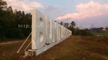 Bukit bandaraya 3D Giant Aluminum Box up lettering signage at setia alam Nkve highway
