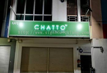 Chatto 3D LED conceal box up lettering Signage design at bukit bingtang Kuala Lumpur