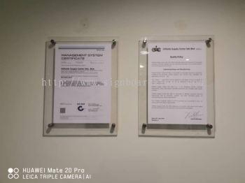 Acrylic poster frame at Kuala Lumpur