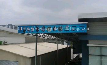 Million Servis sdn bhd normal metal G.I signage design at meru klang