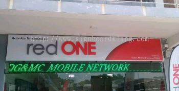 Red one network sdn bhd 3D LED channel box up lettering sigange design , signboard design at nilai giant seremban