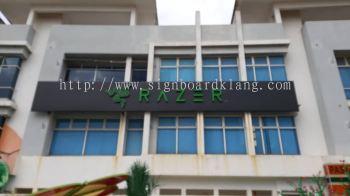 Razer HQ 3D Led conceal Box up lettering signage design, signboard design at I-city shah alam