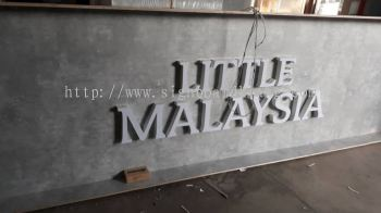Little Malaysia 3d LED channel box up lettering signboard signage at sepang KLIA airport Kuala Lumpur
