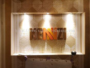 Kennzi pvc cut out 3D box up lettering indoor signage at johor baru JB