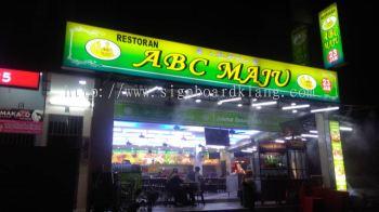 ABC maju light box signboard signage design at kajang Kuala Lumpur
