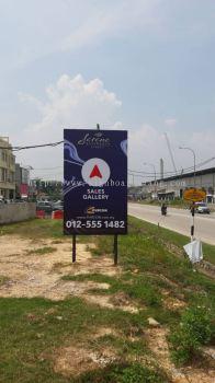 Purcon Round signage at Ijok rawang Kuala Lumpur