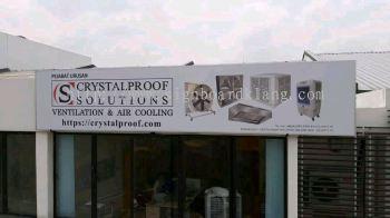 Crystalalrpoof solution Normal metal G.I signboard signage at subang jaya Kuala Lumpur