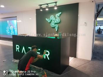 Razer 3D channel led box up lettering and logo signboard signage design at shah alam I-city