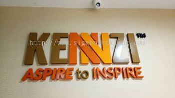 Kennzi indoor 3D box up lettering sigange signboard at botanic bukit tinggi klang