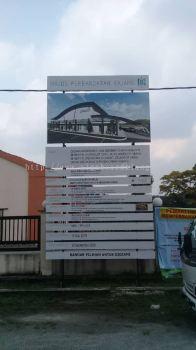 Project construction signboard at Kuala Lumpur