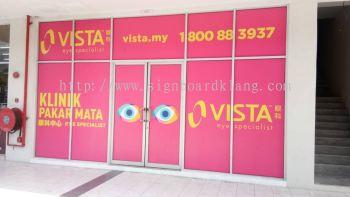 Vista eye specialist Inkjet uv Glass sticker at cheras Kuala Lumpur