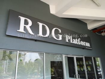 Rdg Gruop 3D box up LED channel lettering signage at sugai besi Kuala Lumpur