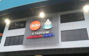 Stadium Air-asia MBPJ 3D Led Conceal box up letting signage at petaling jaya
