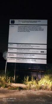 Construction Project Signboard at Kuala Lumpur