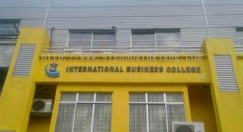 International business college Eg box up 3D lettering signage signboard at bayu tinggi klang
