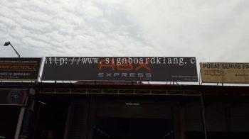 Abx Express Normal metal G.i signage signboard at batu cave Kuala Lumpur