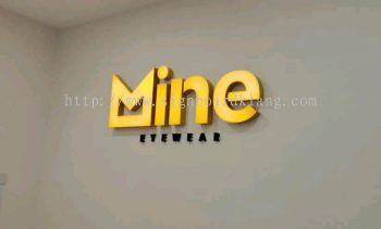 Mine eye wear 3D led channel box up lettering indoor signage at bandar botanic bukit tinggi klang