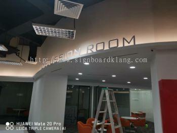 My Eg service center Eg box up 3D lettering signage at kota damansara Kuala Lumpur