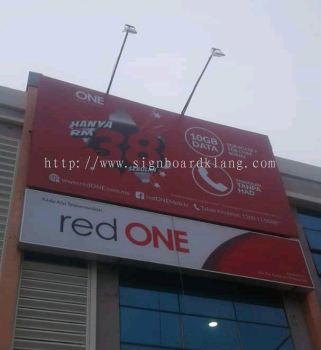 Red one network Sdn bhd Giant billboard at sekinchan Selangor