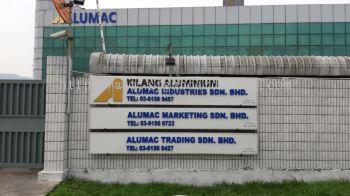 Alumac Normal metal G.I signboard at sugai buloh Kuala Lumpur