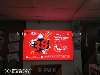 indoor LED fabric light box at subang Usj Kuala Lumpur