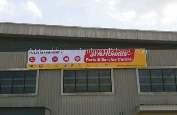 Ji Autohaus car service centre Normal metal g.i signboard at cheras Kuala Lumpur