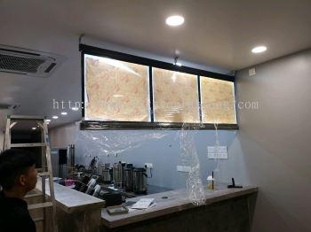 Restoran LED menu signboard