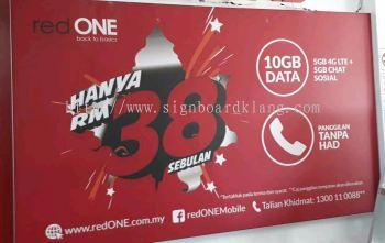 red one network sdn bhd LED fabric light box at tanjong karang