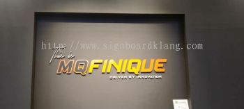 Mq Finique 3D Acrylic box up lettering signGe at cyber jaya