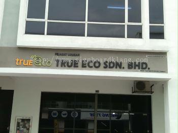 true eco sdn bhd 3D Eg box up lettering signage at puchong Kuala Lumpur
