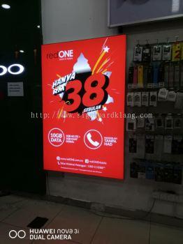 red one network sdn bhd LED fabrix light box at Petaling jaya bangsa Kuala Lumpur