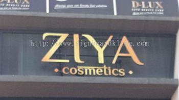 ziya cosmetics 3d LED box up lettering signage signboard at setia alam klang