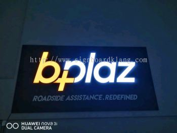Bplaz 3D led channel box up lettering indoor signage at bukit jelutong shah alam