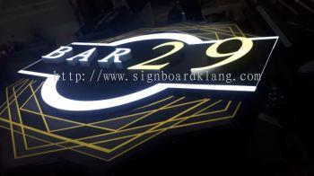 Bar 29 3D LED box up signboard at bukit jalil Kuala Lumpur