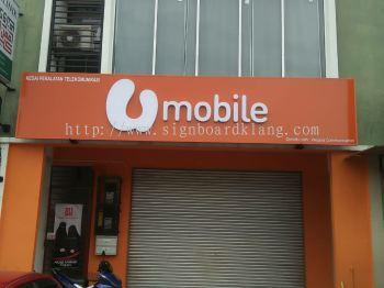 U Mobile 3D LED channel Box up lettering signage at kota damansara pj Kuala Lumpur