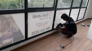Eye level glass sticker inkjet at setia alam
