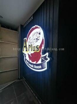 Aplus Aluminum ceiling trim casing 3D LED channel box up lettering signage at seremban