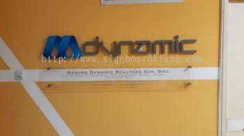 Dynamic 3D box up lettering signage at puchong Kuala Lumpur