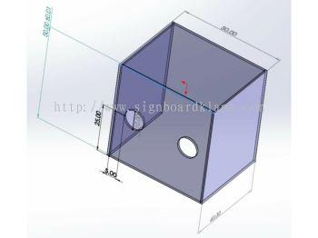 Covid-19 DIY custom made operation Acrylic display Box