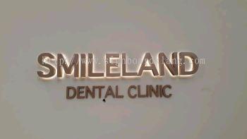 Smileland Dental Clinic Eg Box up 3D LED Backlit indoor signage at balagong kuala Lumpur