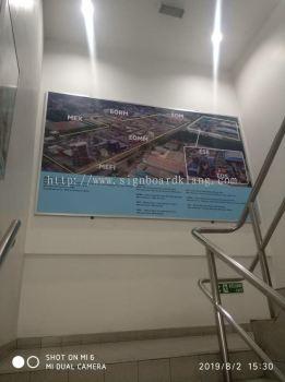Metal G.I signboard at bukit jelutong shah alam