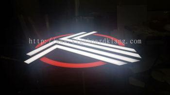 Tifosi uno 3D LED conceal box up lettering signboard at bangsa Kuala Lumpur