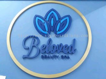 Beloved beauty spa 3D box up signage at klang