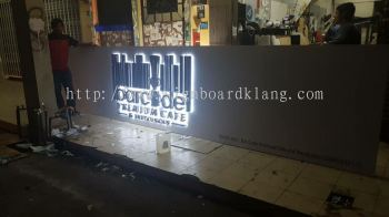 Barcudel 3d eg box up LED backlit signage at Kuala langat