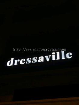 Dressaville 3D LED channel box up lettering signboard signage at kuchai lama Kuala Lumpur